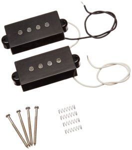 1set 4 String Noiseless Pickup Black for Precision P-Bass Replacement